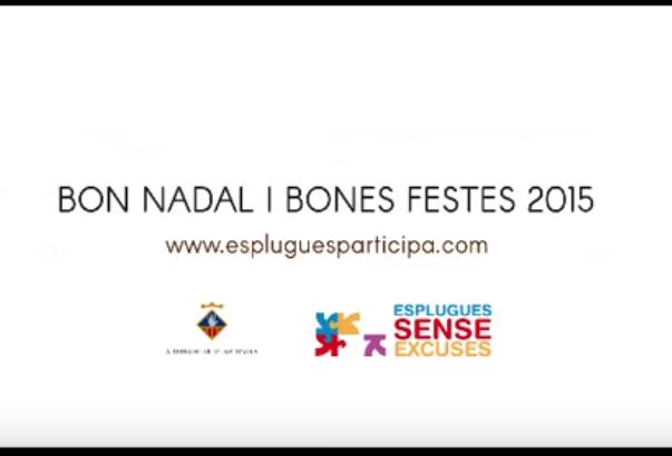 Felicitació de Nadal de la ciutat d'Esplugues de Llobregat als participants dels Pressupostos Participatius