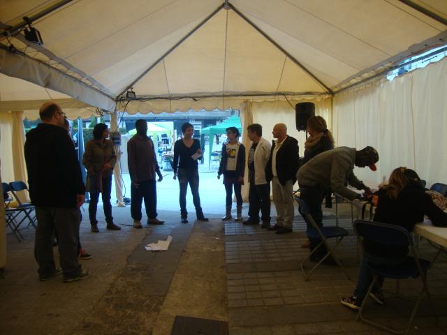 Dinamització d'activitats en la trobada Mescla't de Sabadell