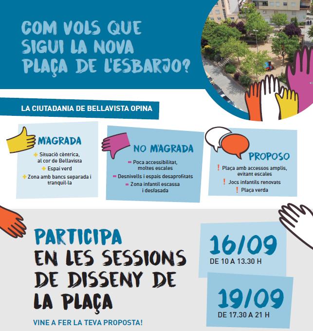 Tallers participatius per al disseny de la plaça de l'Esbarjo a Bellavista