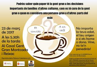 Café coloquio 'La gente mayor en el mundo' de la Xarxa Antirumors de Montcada
