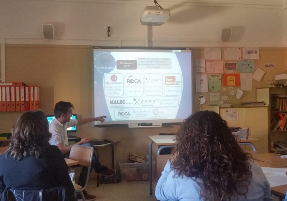 Presentació de l'estudi sobre espais interlectius a la comissió de menjadors escolars de Barberà del Vallès
