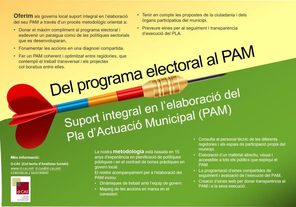Del programa electoral al PAM con D-Cas