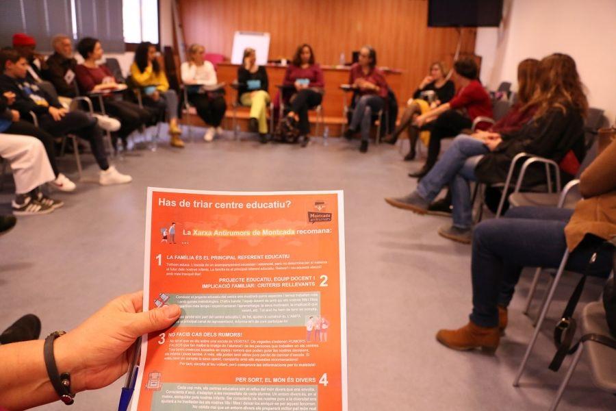 Engeguem amb la Xarxa Antirumors de Montcada i Reixac la campanya per triar escola sense prejudicis